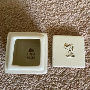 Peanuts Snoopy Square Trinket Butterfly Box